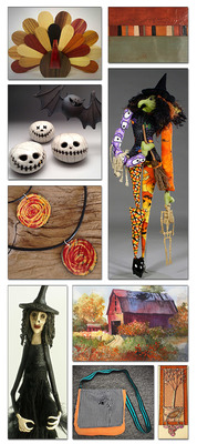 OCTOBER 3-31: Fall Colors and Halloween Inspired Art -